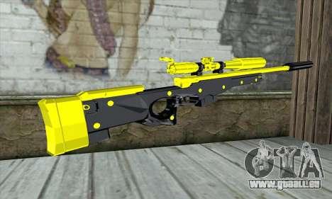Yellow Sniper Rifle für GTA San Andreas zweiten Screenshot