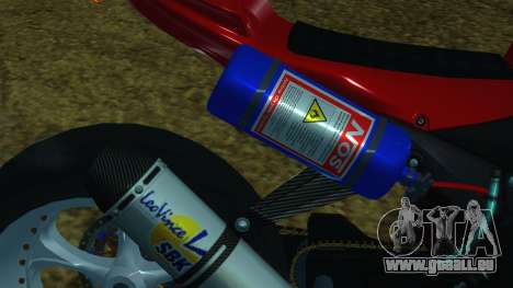Kawasaki Ninja ZX-6R für GTA San Andreas Rückansicht