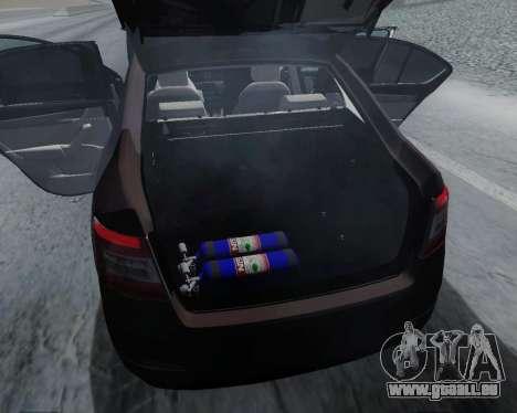 Skoda Octavia A7 für GTA San Andreas Innenansicht