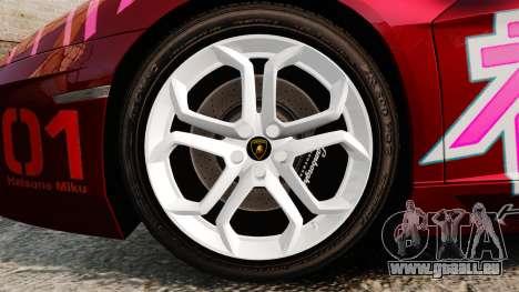 Lamborghini Aventador LP700-4 2012 [EPM] Miku pour GTA 4 Vue arrière