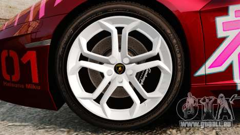 Lamborghini Aventador LP700-4 2012 [EPM] Miku für GTA 4 Rückansicht
