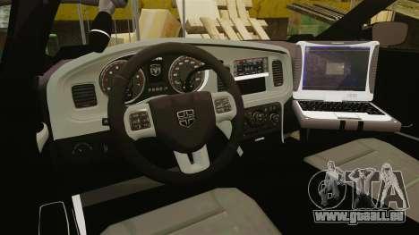 Dodge Charger 2011 Liberty Clinic Police [ELS] pour GTA 4 Vue arrière