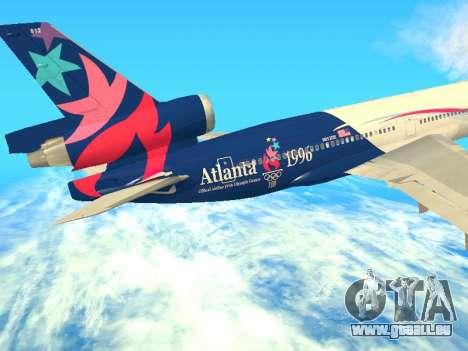 McDonnell Douglas MD-11 Delta Airlines für GTA San Andreas Innenansicht