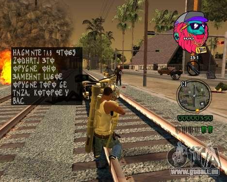 C-HUD Lion pour GTA San Andreas quatrième écran