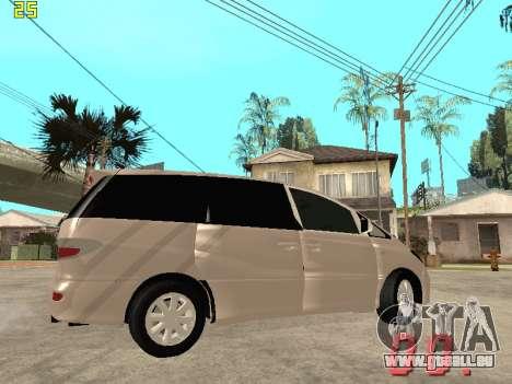 Toyota Estima KZ Edition 4wd pour GTA San Andreas vue intérieure