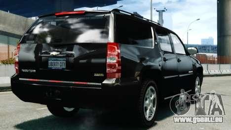 Chevrolet Suburban 2008 FBI [ELS] pour GTA 4 Vue arrière de la gauche