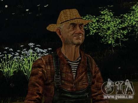 Agriculteur ou modifiée et complétée pour GTA San Andreas deuxième écran