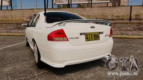 Ford Falcon XR8 Police Unmarked [ELS] pour GTA 4 Vue arrière de la gauche