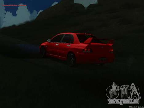Mitsubishi Lancer Evo VIII pour GTA San Andreas vue arrière