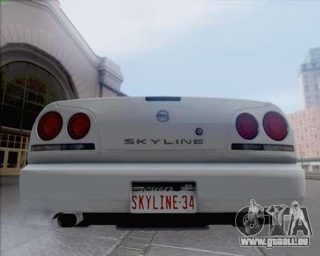 Nissan Skyline ER34 pour GTA San Andreas sur la vue arrière gauche