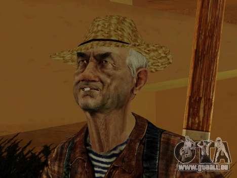 Agriculteur ou modifiée et complétée pour GTA San Andreas septième écran