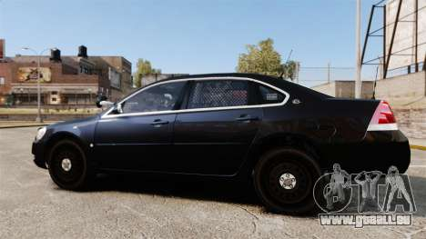 Chevrolet Impala 2010 LS Unmarked K9 Unit [ELS] pour GTA 4 est une gauche