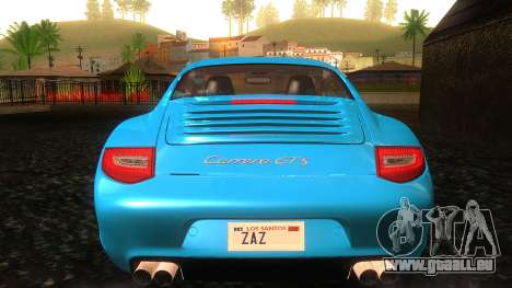 Porsche 911 Carrera GTS 2011 pour GTA San Andreas vue de dessous