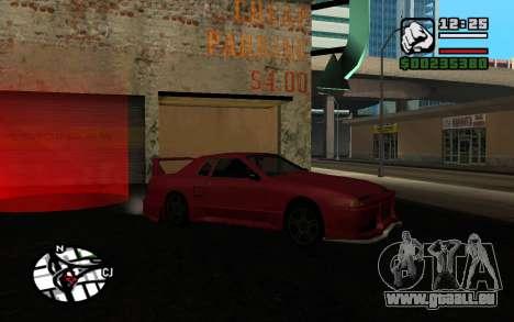 Tuning Mod 0.9 pour GTA San Andreas cinquième écran