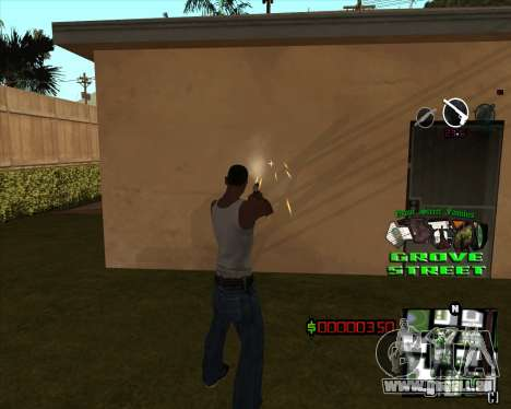 C-HUD West Side Grove Street für GTA San Andreas zweiten Screenshot