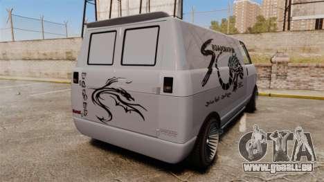 Burrito Bodybuilder pour GTA 4 Vue arrière de la gauche