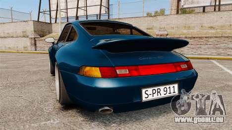 Porsche Carrera RS 1995 pour GTA 4 Vue arrière de la gauche