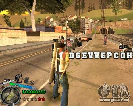 C-HUD Gor Life Ghetto pour GTA San Andreas deuxième écran
