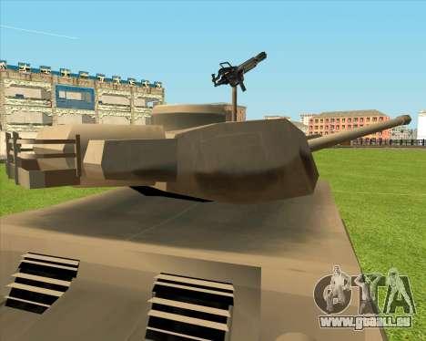 Rhino tp.JSF pour GTA San Andreas vue arrière