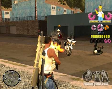 C-HUD Mr. Simpson für GTA San Andreas