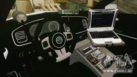 Dodge Charger 2013 Liberty University Police ELS für GTA 4 Rückansicht