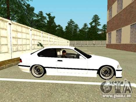 BMW M3 E36 Coupe für GTA San Andreas zurück linke Ansicht