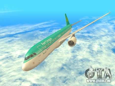 Airbus A320-200 Aer Lingus pour GTA San Andreas vue de dessus