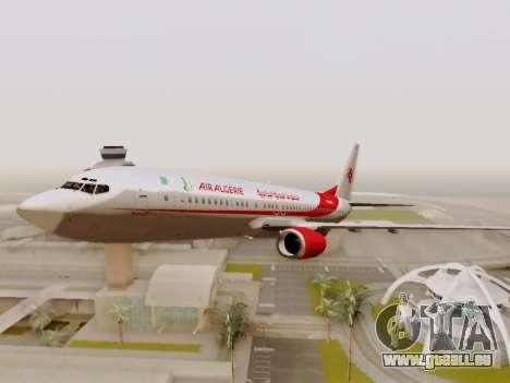 Boeing 737-800 Air Algerie für GTA San Andreas obere Ansicht