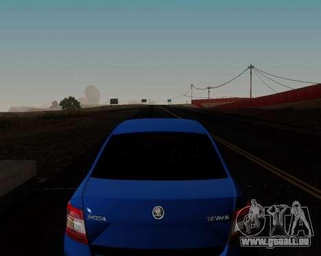 Skoda Octavia A7 pour GTA San Andreas vue de dessous