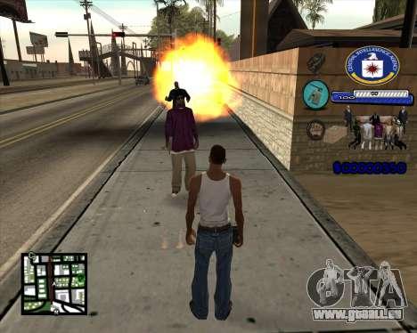 C-HUD C.I.A pour GTA San Andreas troisième écran