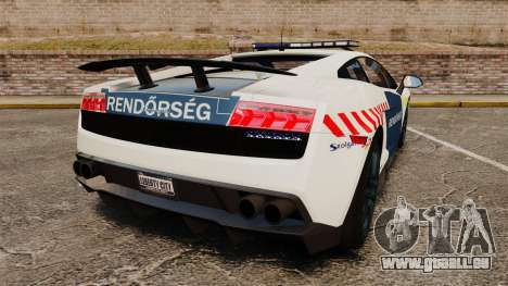Lamborghini Gallardo Hungarian Police [ELS] für GTA 4 hinten links Ansicht