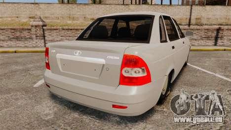 ВАЗ-Lada 2170 Priora v2.0 pour GTA 4 Vue arrière de la gauche