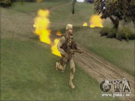 US Army Skin pour GTA San Andreas deuxième écran