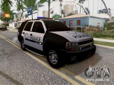 Chevrolet TrailBlazer Police pour GTA San Andreas vue de dessous