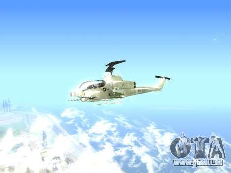 AH-1W Super Cobra pour GTA San Andreas sur la vue arrière gauche