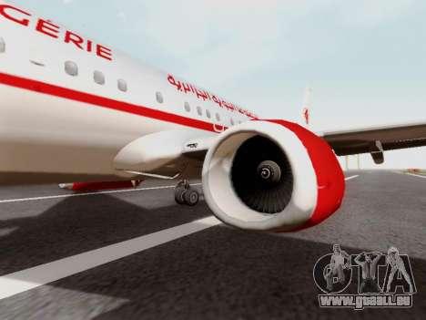 Boeing 737-800 Air Algerie pour GTA San Andreas vue arrière