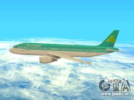 Airbus A320-200 Aer Lingus pour GTA San Andreas vue de dessous