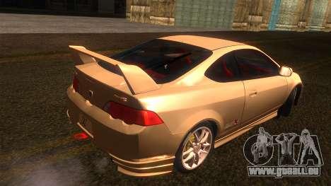 Honda Integra Type R pour GTA San Andreas laissé vue