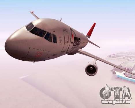 Airbus A320 NWA pour GTA San Andreas vue intérieure