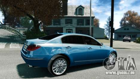 Hyundai Genesis V6 Sedan pour GTA 4 est une gauche