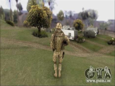 US Army Skin pour GTA San Andreas troisième écran