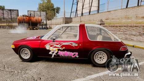 AMC Pacer 1977 v2.1 Miku pour GTA 4 est une gauche