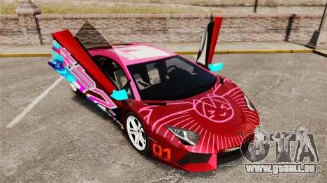 Lamborghini Aventador LP700-4 2012 [EPM] Miku pour GTA 4 est une vue de dessous