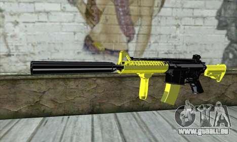Yellow M4A1 für GTA San Andreas