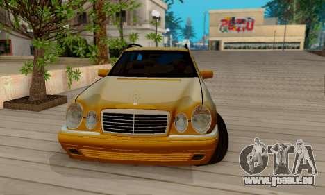 Mercedes-Benz E320 Wagon für GTA San Andreas Innenansicht