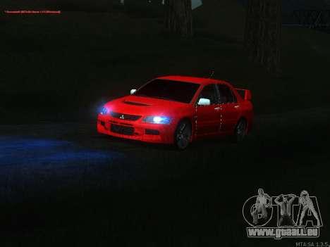 Mitsubishi Lancer Evo VIII pour GTA San Andreas vue intérieure