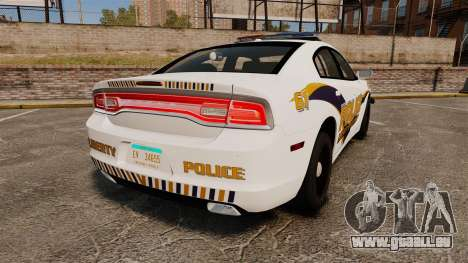 Dodge Charger 2013 Liberty University Police ELS für GTA 4 hinten links Ansicht