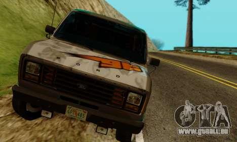 Ford E-150 GT-Shop pour GTA San Andreas vue arrière