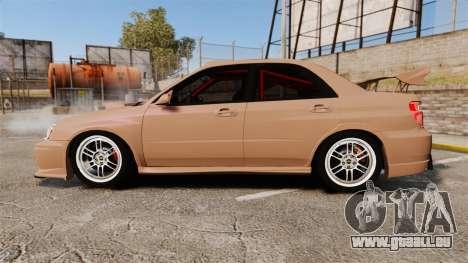 Subaru Impreza WRX STI 2004 pour GTA 4 est une gauche