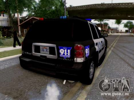 Chevrolet TrailBlazer Police pour GTA San Andreas salon